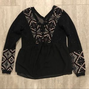 Black patterned Abercrombie sweater!